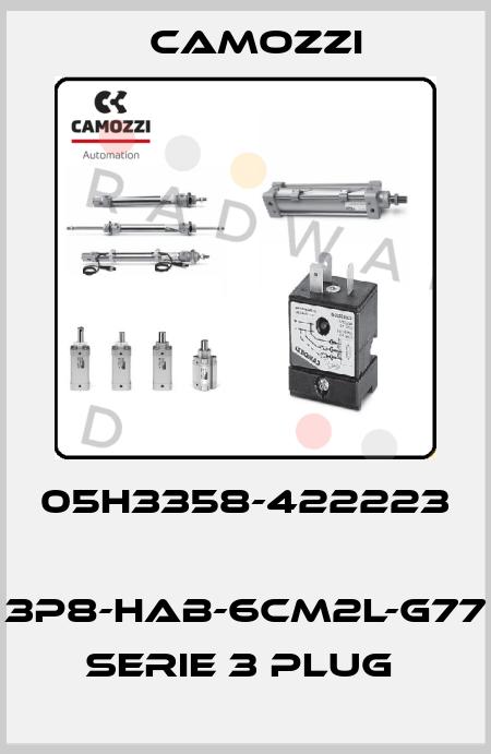 Camozzi-05H3358-422223  3P8-HAB-6CM2L-G77 SERIE 3 PLUG  price
