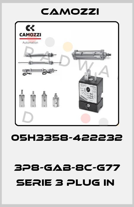 Camozzi-05H3358-422232  3P8-GAB-8C-G77 SERIE 3 PLUG IN  price