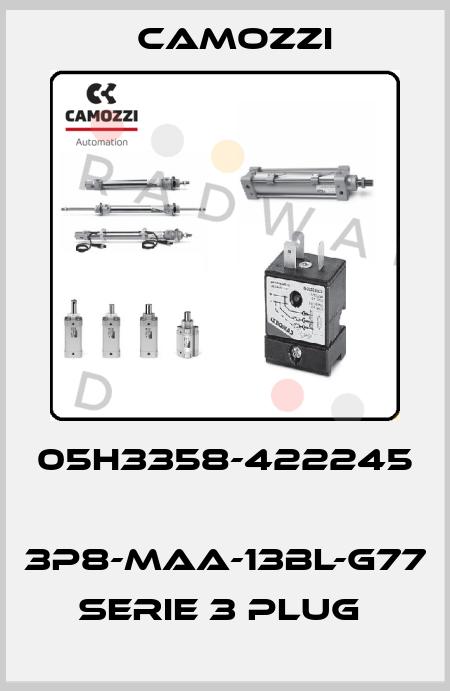 Camozzi-05H3358-422245  3P8-MAA-13BL-G77 SERIE 3 PLUG  price