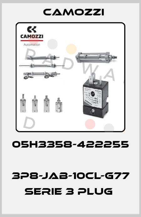 Camozzi-05H3358-422255  3P8-JAB-10CL-G77 SERIE 3 PLUG  price
