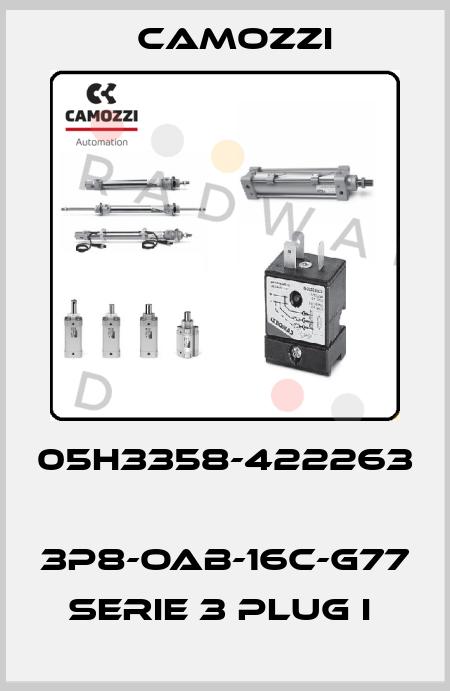 Camozzi-05H3358-422263  3P8-OAB-16C-G77 SERIE 3 PLUG I  price