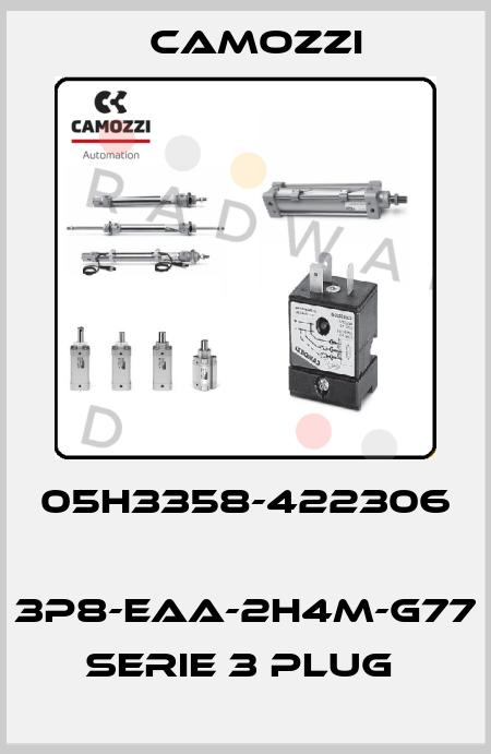 Camozzi-05H3358-422306  3P8-EAA-2H4M-G77 SERIE 3 PLUG  price