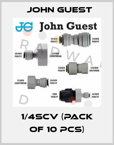 John Guest-1/4SCV (pack of 10 pcs) price