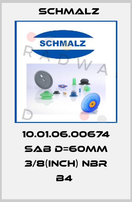 Schmalz-10.01.06.00674 SAB D=60MM 3/8(INCH) NBR B4  price
