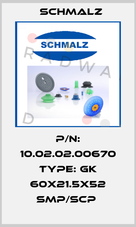 Schmalz-P/N: 10.02.02.00670 Type: GK 60x21.5x52 SMP/SCP  price